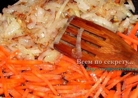 лук пассерованный с морковью