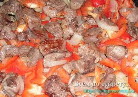 индейка, тушеная с овощами