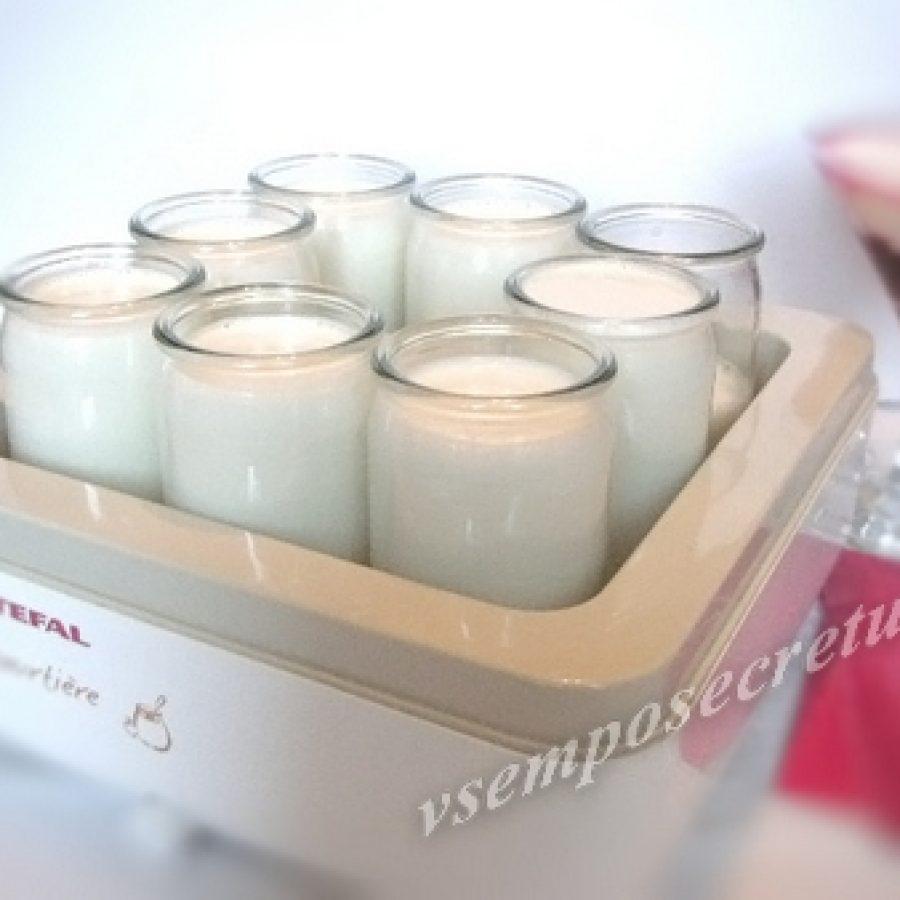 Рецепт риготовления йогурта в йогуртнице.