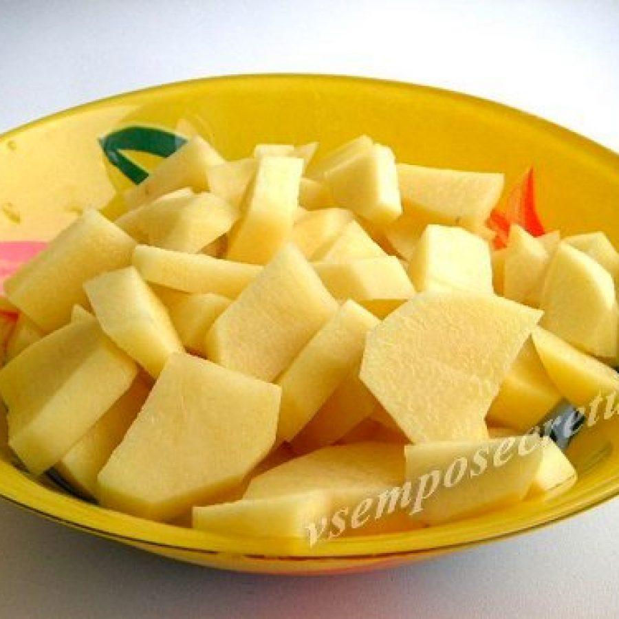 картофель для борща