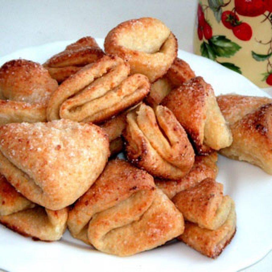 Творожное печенье Треугольники или Ушки