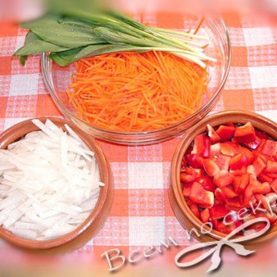 овощи для фунчозы с мясом