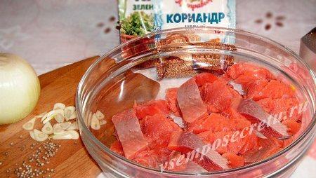 краснавя рыба в соевом соусе